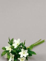 Цветок белый анемон 12 см