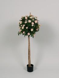 Роза в кашпо розовая 80см