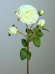 Роза кремовая с бутонами 52см