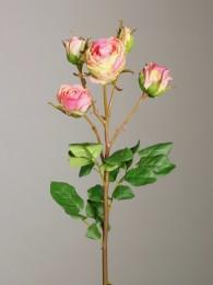 Роза кустовая розовая 48см