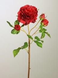 Роза красная с бутонами 52см